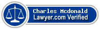 Charles Henry Mcdonald  Lawyer Badge