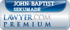 John-Baptist A. Sekumade  Lawyer Badge