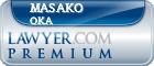 Masako Oka  Lawyer Badge
