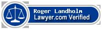 Roger August Landholm  Lawyer Badge