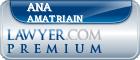 Ana Amatriain  Lawyer Badge