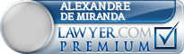 Alexandre Lopes De Miranda  Lawyer Badge