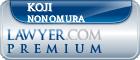 Koji Nonomura  Lawyer Badge