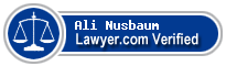 Ali Nicole Nusbaum  Lawyer Badge