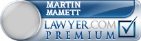 Martin Gregory Mamett  Lawyer Badge