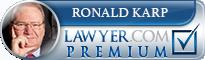 Ronald A. Karp  Lawyer Badge