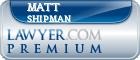 Matt Shipman  Lawyer Badge