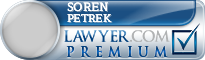Soren Paul Petrek  Lawyer Badge