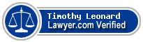 Timothy R. Leonard  Lawyer Badge