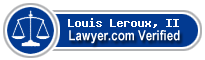 Louis Paul Leroux, II  Lawyer Badge