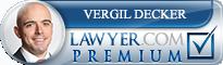 Vergil Thomas Decker  Lawyer Badge