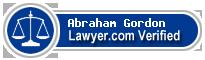 Abraham I. Gordon  Lawyer Badge