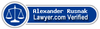 Alexander Sarafin Rusnak  Lawyer Badge