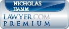 Nicholas S. Hamm  Lawyer Badge