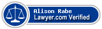Alison Mary Rabe  Lawyer Badge