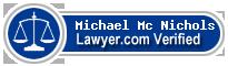 Michael Dirk Mc Nichols  Lawyer Badge
