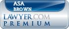 Asa Daniel Brown  Lawyer Badge