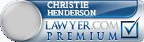 Christie Weatherly Wise Henderson  Lawyer Badge