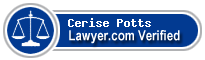 Cerise Katherine Potts  Lawyer Badge