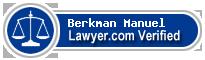 Berkman J. Manuel  Lawyer Badge