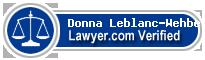 Donna Estelle Leblanc-Wehbe  Lawyer Badge