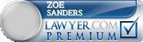 Zoe C. Sanders  Lawyer Badge