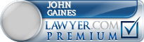 John A. Gaines  Lawyer Badge
