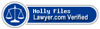 Holly Elizabeth Files  Lawyer Badge