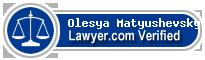 Olesya Matyushevsky  Lawyer Badge