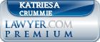 Katriesa Ann Crummie  Lawyer Badge