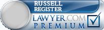 Russell Baker Register  Lawyer Badge