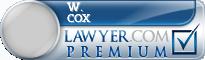 W. Stephens Cox  Lawyer Badge