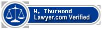 W. E. Thurmond  Lawyer Badge