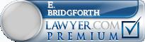E. Barry Bridgforth  Lawyer Badge