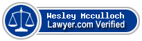 Wesley Ross Mcculloch  Lawyer Badge