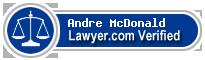 Andre O. McDonald  Lawyer Badge