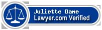 Juliette Gaffney Dame  Lawyer Badge