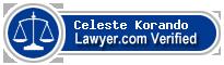 Celeste Ann Korando  Lawyer Badge