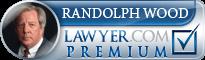 Randolph Cook Wood  Lawyer Badge
