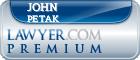 John Ivon Petak  Lawyer Badge