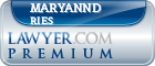 Maryannd Ries  Lawyer Badge