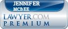 Jennifer Lustig Mcbee  Lawyer Badge