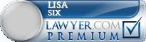 Lisa Marie Six  Lawyer Badge
