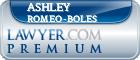 Ashley Jane Romeo-Boles  Lawyer Badge