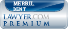 Merril F. Bent  Lawyer Badge