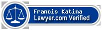 Francis Ready Katina  Lawyer Badge