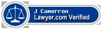 J Scott Camerron  Lawyer Badge