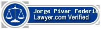 Jorge V. Pivar Federici  Lawyer Badge