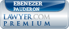 Ebenezer Pauderon  Lawyer Badge