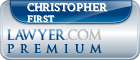 Christopher Michael First  Lawyer Badge